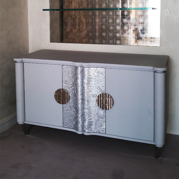 commode-contemporaine gainée cuir